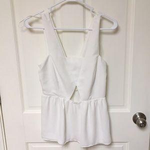 NWOT Zara Basic white cutout tank xs